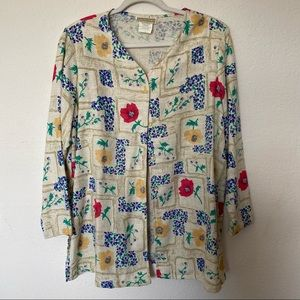 Vintage Season Ticket Floral Summer Kimono Jacket